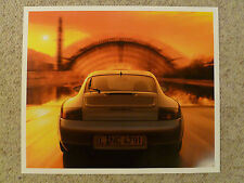2001 Porsche Carrera Coupe Showroom Advertising Poster RARE!! Awesome Look