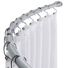 Polished Chrome Adjustable Bathroom Curved Shower Curtain Rod 58-Inch to 72-Inch