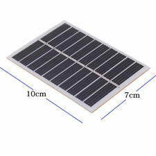 5V 0.8W 160mA Mini Solar Panel Module DIY for Phone Light Toys Charger Black