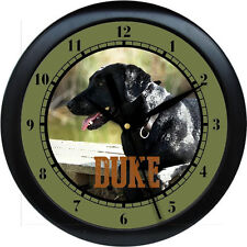 Personalized Black Lab  Wall Clock Water Color Dog Pet Gift Vetrinarian