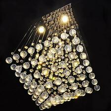 PRO Luxury Square Elegant Crystal Chandelier Ceiling Light Lamp Pendant Lighting