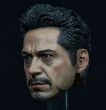 "1/6 Iron Man Tony Robert Downey Head Sculpt Model F/12"" Phicen Male Figure Body"