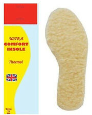 1 PAIR MEN LADY UNISEX ULTRA COMFORT WOOL INSOLE THERMAL FOOT FEET SIZE 9/10