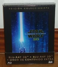 STAR WARS-EL DESPERTAR DE LA FUERZA-THE FORCE AWAKENS-3D+BLU-RAY+EXTRAS-NUEVO