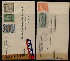 Guatemala  2  censor covers  to  US  #'3  50056  and 2035        MS1213