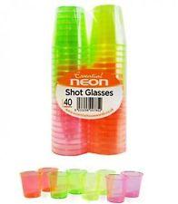 40PK tasses enterrement vie jeune fille jetables fluo verres de couleur parti jelly 30ml