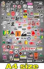 RC DRIFT CAR STICKER SHEET JDM A4 PAGE 1/10 1/8 HPI MST PANDORA 3 RACING TAMIYA