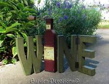 "Hinged ""WINE"" BLOCK LETTERS Wine Connoisseur's Delight! WOOD SIGN"