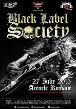 BLACK LABEL SOCIETY 2015 BUCHAREST,ROMANIA CONCERT TOUR POSTER-Heavy Metal Music