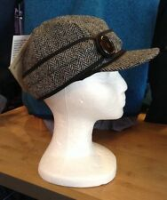 Stormy Kromer~The Harris Tweed Button Up Cap~Lowell~Size 6 7/8~WOOL~Women's~NEW