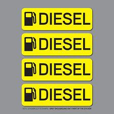SKU2535 - 4 x Diesel Fuel Reminder Stickers - Car - Truck - Bus - Van - Fleet