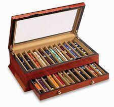 VOX Luxury Twenty Four 24 Pen Display Holder Case Wood Plexiglass Top x-pc-24-b