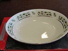ROYAL LIMITED HOLLY HOLIDAY HOME FOR THE HOLIDAY OVAL VEG BOWL 10 3/4""