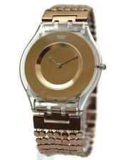 New Swatch Paved In Bronzed Skin Women Slim Watch 6 1/2 inches SFK129B 35mm $130