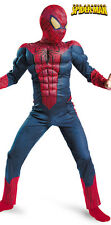The Amazing Spider-Man Costume w/Free Web Shooter size 7-8 New by Disguise 42476