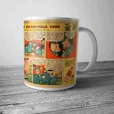 Vintage Advertising Pepsi And The Pepsi Cola Cops Comic Ad on NEW Coffee Mug Cup