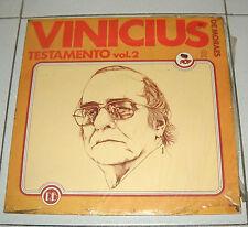 """Lp VINICIUS DE MORAES Testamento Vol. 2 NUOVO Toquinho Jobim 33 giri 12"""""""