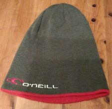 o'neill reversible beanie - red/grey - one size - bnwt - surf/skate/snow