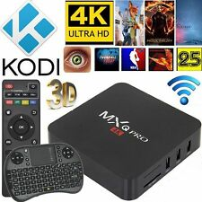 Latest Chip Set S905x Quad Core MXQ Pro 4K Android 6.0 Smart TV Box + Keyboard