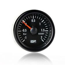 "Universal 2"" 52mm Black Tinted -1~2 bar boost Car Smoke Gauges Meters"