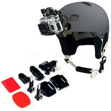 Adjustment Curved Adhesive Helmet Front Mount Kit for GoPro Hero 2 3 UF