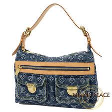 Louis Vuitton Monogram Denim buggy PM bag blue M95049 Free Shipping