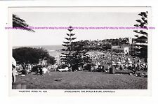 CRONULLA BEACH & PARK Vintage RPPC 1940-50s?  SLSC  Bathers SYDNEY AUSTRALIA