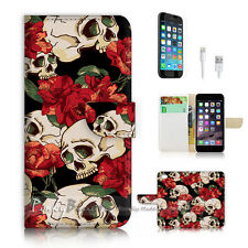 iPhone 7 PLUS (5.5') Flip Wallet Case Cover P2547 Sugar Skull