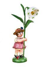 Hubrig Volkskunst Blumenkind Mädchen mit Märzenbecher, 307h0065