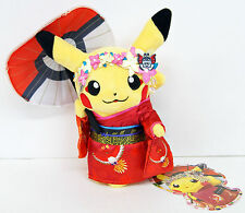 Pokemon Center Kyoto Standing Maiko Geisha Plush Doll Pikachu 194622