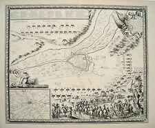 Siège de Lens pas-de-Calais FRANCE Artois 1647 âge cuivre pli 1698