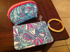 Lilly Pulitzer 2pc.Set - Wristlet & Cosmetic Case ,NWT,Great Buy!