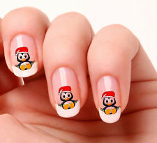 20 Nail Art Stickers Transfers Decals #500 - Christmas Penguin  peel & stick