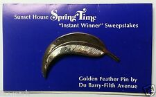 """Golden Feather Pin"" Instant Winner from 1969 Sunset House ""Sweepstakes"""