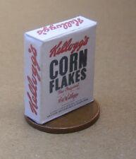 1.12 échelle vide corn flakes paquet poupées maison miniature accessoire alimentaire AD