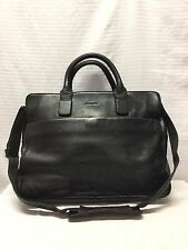 Enzo Rossi Black Leather Briefcase Soft Case