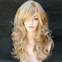 Wonderful Long Wavy Golden strawberry Blonde mix Ladies Wigs from WIWIGS UK