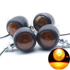 4x Metal Universal Motorcycle Turn Signal Indicator Lights Lamp Bulb Blinkers