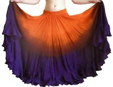 12 YARD ORANGE/PURPLE INDIAN COTTON GYPSY BOHO HIPPIE BELLY DANCING SKIRT