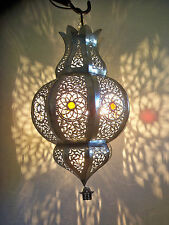 Lustre plafonnier marocain fer forgé lampe applique lanterne oriental 50 cm 2S
