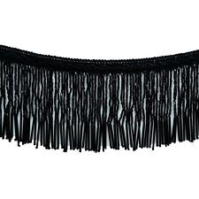 Beaded Fringe Ribbon Black Upholstery Decorative Curtain Supplies Craft By 1 Yd