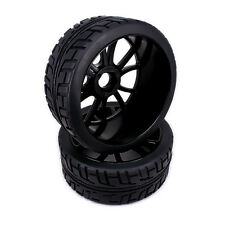 4pcs Wheel Rim Tire 12 Spoke For RC 1/8 Buggy Off-Road On-Road Car HSP Traxxas