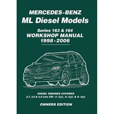 Mercedes Benz ML ML270 ML280 ML400 CDI Diesel 163 & 164 Workshop Manual MBLDWH