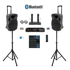 COMPLETE KARAOKE SYSTEM DIGITAL PLAYER YAMAHA MIXER Bluetooth Speakers CDG MUSIC
