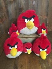 Rovio ANGRY BIRDS RED PLUSH Lot Stuffed Kids Toy Free Shipping