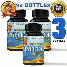 Omega-3 Fish Oil - Triple Strength Pharmaceutical Grade 800 mg EPA, 600 mg DHA
