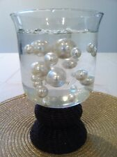 Elegant Ivory Jumbo Pearls mix size Vase filler wedding centerpiece table decor