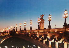 LED LIT CANVAS PICTURE - ALEXANDER III BRIDGE IN PARIS - BATTERY OPERATED