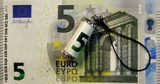New Sterling Silver emergency 5 Euro note charm & cord