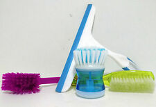 4 in 1 Mini Bathroom Cleaning Set Glass Wiper Basin Cleaner Pot Cleaner & Brush